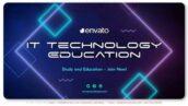 پروژه افتر افکت تبلیغات آموزشگاه کامپیوتر Information Technology Education