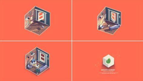 پروژه افتر افکت لوگو با موزیک 2021 آژانس املاک Real Estate Logo