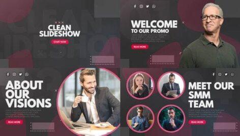 پروژه افتر افکت 2021 با موزیک تبلیغات مدرن Clean Slideshow