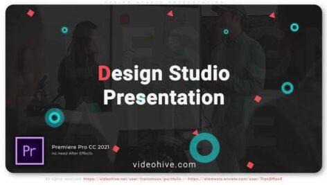 پروژه پریمیر با موزیک معرفی شرکت های طراحی Design Studio Presentation