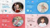 پروژه 2021 افتر افکت با موزیک اسلایدشو کودک Baby Album Slideshow