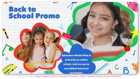 پروژه 2021 افتر افکت کودک با موزیک بازگشت به مدرسه Back To School Promo