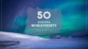 100 پریست لایت روم تم رنگی شفق Aurora Mobile Presets Pack