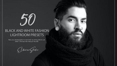 100 پریست لایت روم سیاه و سفید فشن Black and White Fashion Lightroom Presets
