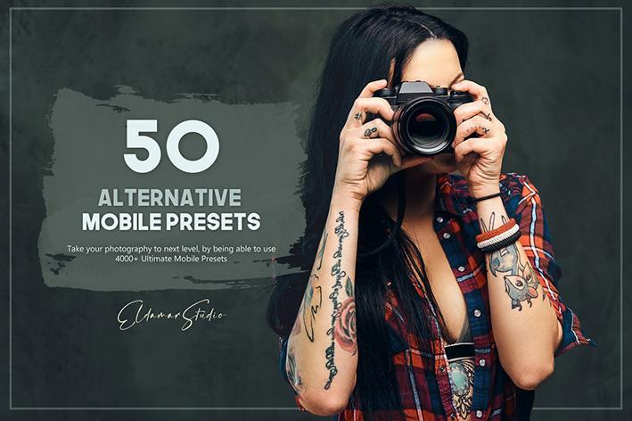 100 پریست لایت روم عکاسی سینمایی Alternative Mobile Presets Pack