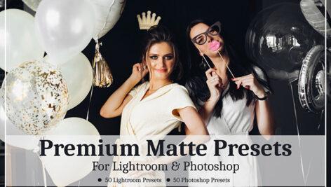 100 پریست لایت روم و پریست کمرا راو فتوشاپ Premium Matte Presets