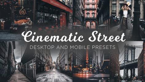 12 پریست لایت روم سینمایی تم عکس خیابانی Cinematic Street Lightroom Presets