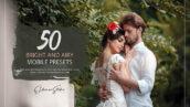 150 پریست لایت روم آتلیه عکاسی عروس Bright and Airy Mobile Presets Pack