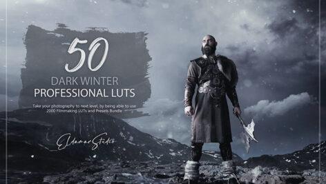 150 پریست لایت روم حرفه ای و LUTs رنگی Dark Winter LUTs and Presets Pack
