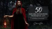 150 پریست لایت روم حرفه ای و LUTs رنگی Dark and Monochrome LUTs and Presets Pack