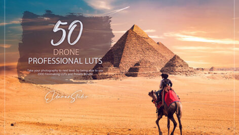 150 پریست لایت روم حرفه ای و LUTs رنگی Drone LUTs and Presets Pack
