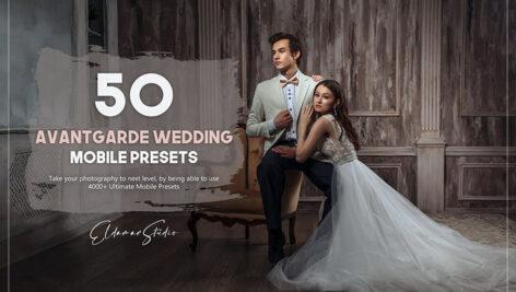 150 پریست لایت روم 2021 عروسی Avantgarde Wedding Mobile Presets Pack