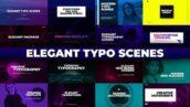 16 تایپوگرافی آماده پریمیر بهمراه ترانزیشن Elegant Typo Scenes