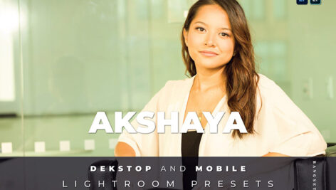 20 افکت رنگی لایت روم دسکتاپ و موبایل Akshaya Lightroom Preset