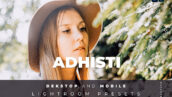20 پریست لایت روم رنگی تم تناژ روشن Adhisti Lightroom Preset