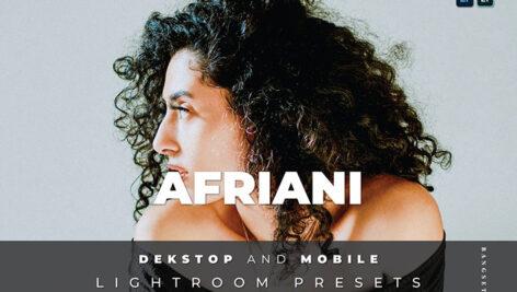 20 پریست لایت روم رنگی تم روشن Afriani Lightroom Preset
