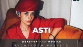 20 پریست لایت روم رنگی تم نویز قدیمی Asti Lightroom Preset