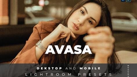 20 پریست لایت روم رنگی تم پرتره Avasa Lightroom Preset