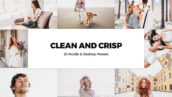 20 پریست لایت روم روشن و کمرا راو و لات رنگی Clean and Crisp Lightroom Presets