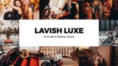 20 پریست لایت روم و کمرا راو و لات رنگی Lavish Luxe Lightroom Presets & LUTs