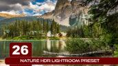 26 پریست لایت روم حرفه ای HDR طبیعت Nature HDR Lightroom Preset