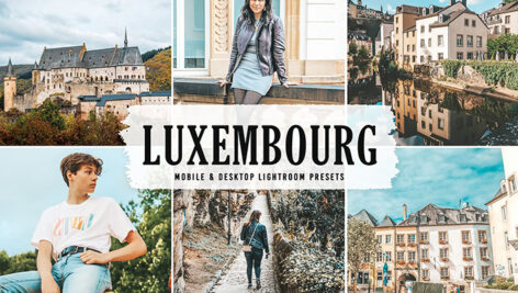 40 پریست لایت روم و پریست کمرا راو و اکشن فتوشاپ لوکزامبورگ Luxembourg Lightroom Presets