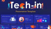 قالب پاورپوینت حرفه ای تم تکنولوژی Tech in Tech PowerPoint Template