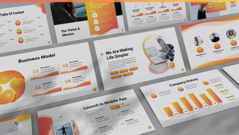 قالب پاورپوینت حرفه ای تم شرکتی Danello Agency Powerpoint Template