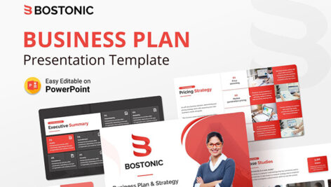 قالب پاورپوینت حرفه ای تم پلان تجاری Bostonic Business Plan PPT Presentation Template