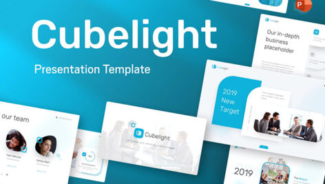 قالب پاورپوینت حرفه ای شرکتی و تجاری Cubelight Business PowerPoint Template
