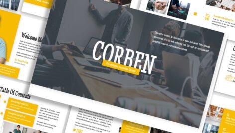 قالب پاورپوینت و گوگل اسلایدر تم تجارت Corben Business Template Prensentation