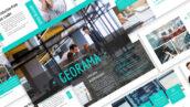 قالب پاورپوینت و گوگل اسلایدر تم تجارت Georama Business Template Prensentation