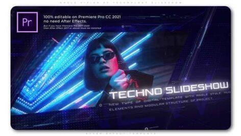 پروژه آماده پریمیر اسلایدشو افکت تکنولوژی با موزیک Angle Vision of Technology Slideshow