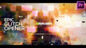 پروژه آماده پریمیر اسلایدشو افکت نویز با موزیک Glitch Opener Slideshow Premiere Pro