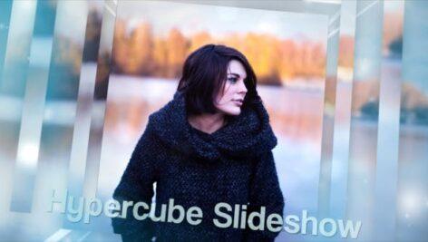 پروژه افتر افکت اسلایدشو حرفه ای 3 بعدی با موزیک Hypercube Slideshow