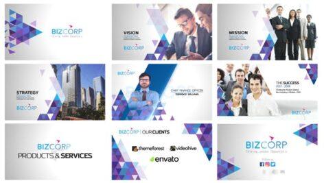 پروژه افتر افکت با موزیک تبلیغات شرکت و محصولات Triangle Corporate Profile