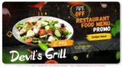 پروژه افتر افکت با موزیک تبلیغات منوی رستوران Devils Grill Menu Promo