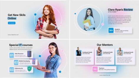 پروژه افتر افکت تبلیغات آموزش آنلاین با موزیک Online Courses Promo B111
