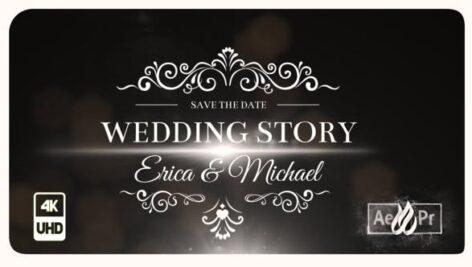 پروژه افتر افکت رزولوشن 4K تایتل فیلم عروسی Wedding Titles