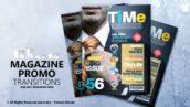 پروژه افتر افکت فوق حرفه ای تبلیغات مجله با موزیک Magazine Promo ransitions