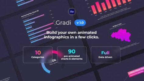 پروژه افتر افکت موشن گرافی اینفوگرافیک Gradi Gradient Infographics