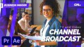 پروژه پریمیر با موزیک اعلام برنامه تلویزیونی TV and Video Channel Broadcast