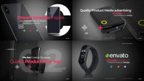 پروژه پریمیر حرفه ای با موزیک تبلیغات محصولات Visual Product Promo