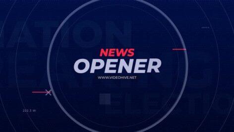 پروژه پریمیر حرفه ای با موزیک تیتراژ برنامه خبری News Opener