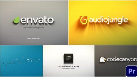 پکیج 5 پروژه پریمیر لوگو حرفه ای با موزیک Minimal Corporate Logo Pack