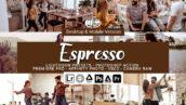 100 پریست لایت روم و لات رنگی تناژ شکلاتی Espresso Presets Photoshop actions