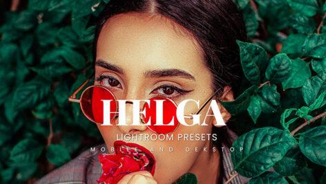 20 پریست لایت روم پرتره حرفه ای Helga Lightroom Presets