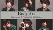 25 پریست لایت روم و کمرا راو و لات رنگی و اکشن فتوشاپ Body Art Lightroom Ps LUT Presets