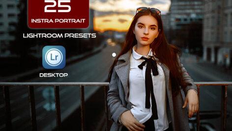 25 پریست لایت روم پرتره اینستاگرام Instra Portrait Lightroom Presets