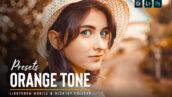 39 پریست لایت روم و کمرا راو فوق حرفه ای تم نارنجی ORANGE tone Lightroom presets